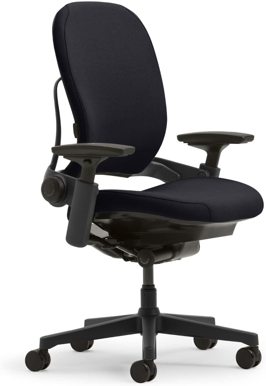Steelcase Leap Ergonomic Office Chair with Flexible Back | Adjustable Lumbar, Seat, and Arms | Black Frame and Fabric