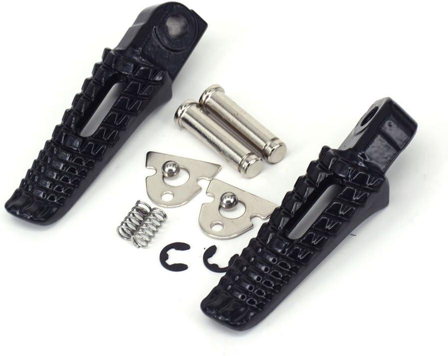 JFG RACING Motorcycle Black Rear Foot Pegs Bracket Rests Pedal Footpeg Footrest For Suzuki GSXR600 GSXR750 96-05 00 GSXR1000 01-04