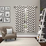 """Pairs to Go Dewitt 2 Pack Window Curtains, 63"""", Taupe"""