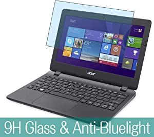 """Synvy Anti Blue Light Tempered Glass Screen Protector for Acer Aspire ES1-111 / ES1-111M / ES1-131 / ES1-132 11.6"""" Visible Area 9H Protective Screen Film Protectors (Not Full Coverage)"""