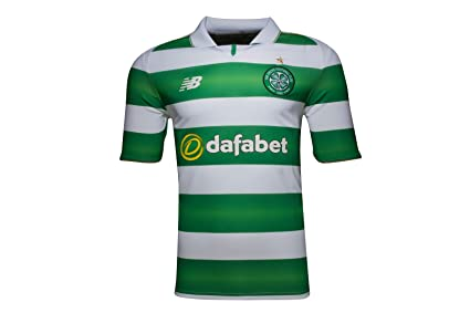 7763803bb Amazon.com   New Balance 2016-2017 Celtic Home Football Soccer T ...