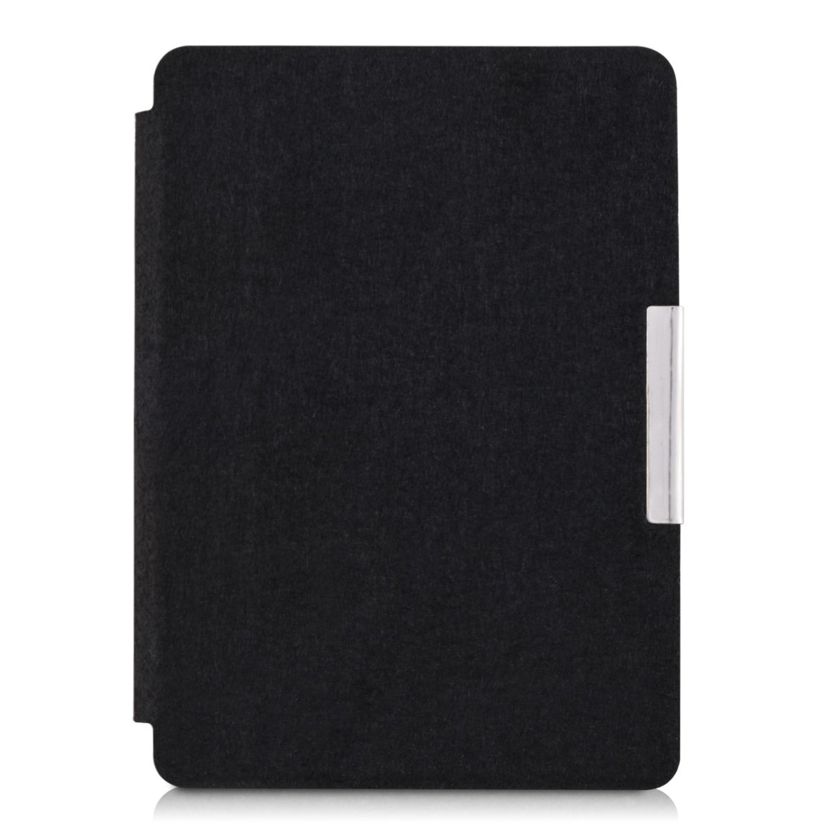 kwmobile Case for Amazon Kindle Paperwhite - Book Style Felt Fabric Protective e-Reader Cover Folio Case - black by kwmobile (Image #3)