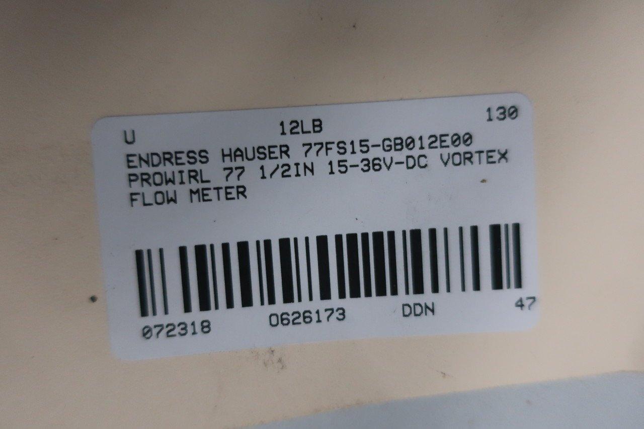 ENDRESS Hauser 77FS15-GB012E00 PROWIRL 77 Vortex Flow Meter