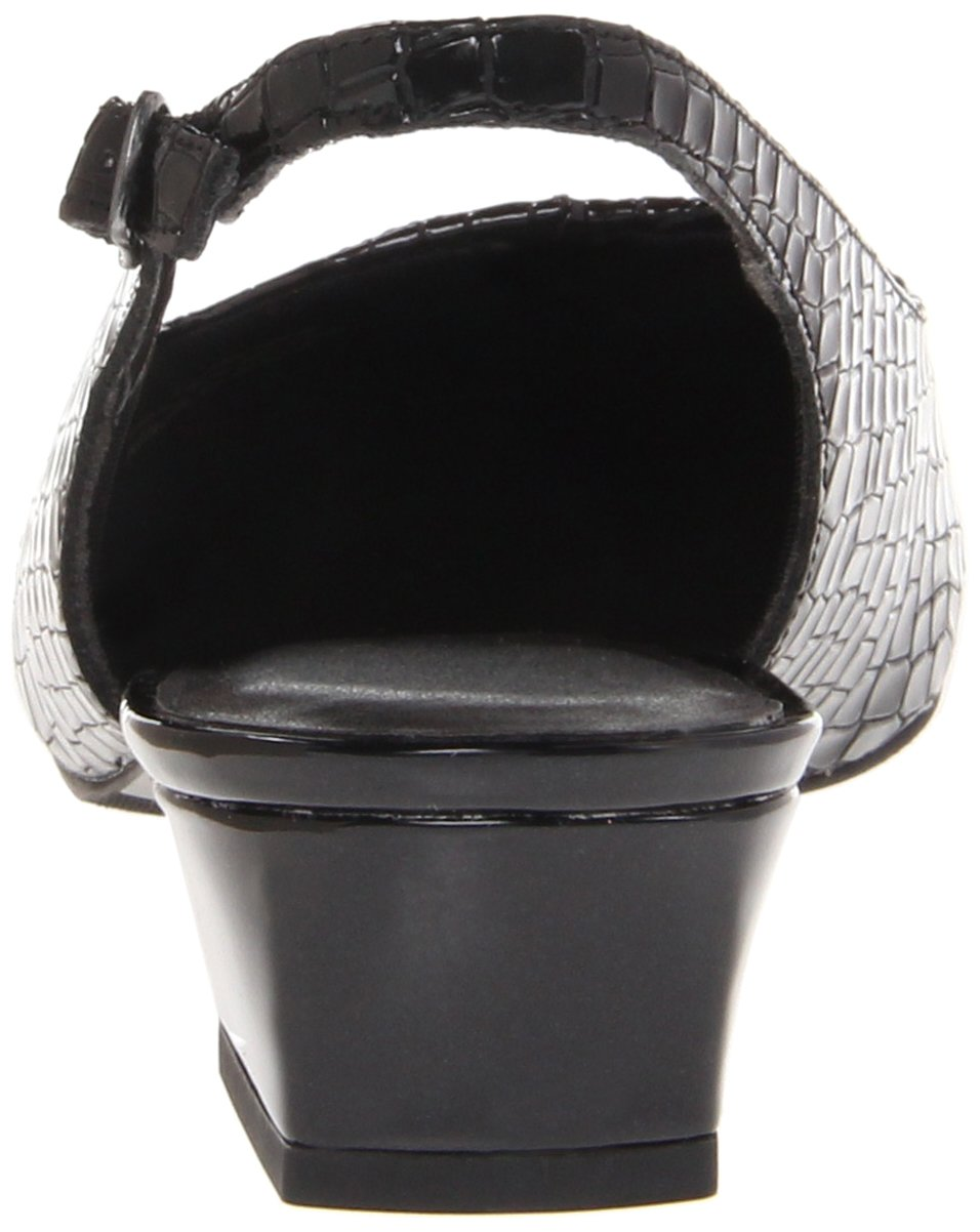 Trotters Women's Dea Slingback Pump B00BMYCZ6U 11 N US|Black Crocodile