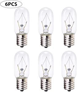 40 Watt Appliance Bulb, 40 Watt Microwave Bulb GE WB36x10003 - Microwave Light - Fits Most GE and Whirlpool Ovens, E17 Base Bulb - Pack of 6