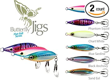 Shimano Butterfly Jigs Flat-Side Brand New 8 Colors 6 Sizes