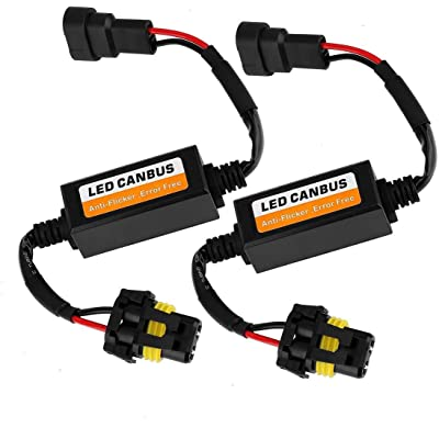 9012/9005/9006/H10 Canbus Decoder for Chrysler/Jeep/Dodge/GMC Sierra Upgraded 9005 Led Resistor 9012 Anti-Flicker Harness 9012 Error Free Computer 9005 Warning Canceller LED Headlight Bulb 2 Pack: Automotive