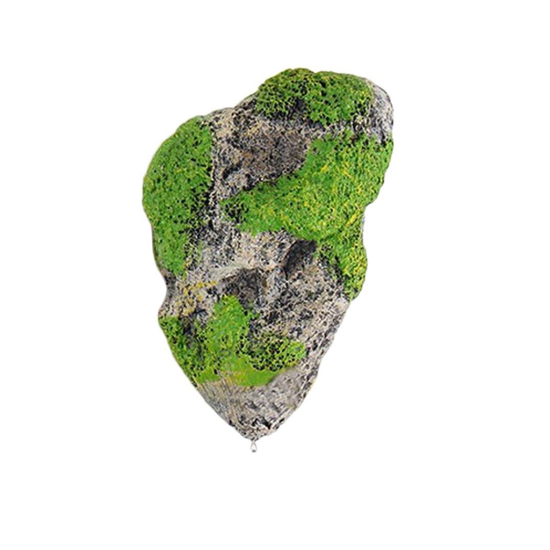 amapingフローティングSimulated Rocks魚タンク水生風景、プラスチック装飾ストーン 14.2x9cm Amaping 0788876181541670921 B07FPKYWBK Gray B