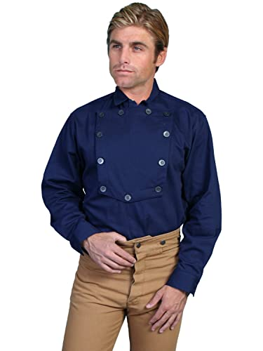 edd41ffbefd Amazon.com  Scully Western Shirt Mens L S Old West Button Placket Pullover  542600  Clothing