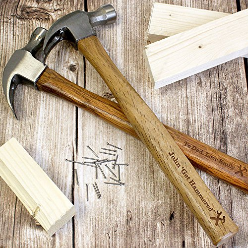 Gregory Crafts /& Gifts Personalised Mens Hammer Any Message