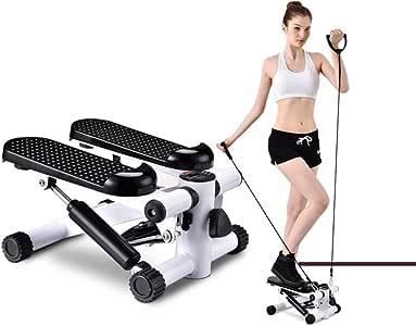 Stepper máquina con Pull cuerda Fitness Mini stepper fitness entrenamiento escalera pasos Pedal Fitness perder grasa, Blanco: Amazon.es: Deportes y aire libre