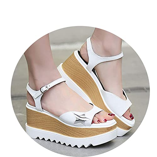 bdcdf7926326 Image Unavailable. Image not available for. Color  Good-memories shoes- sandals Ladies Peep Toe Open Wide Fit Designer Slingback Women Wedge