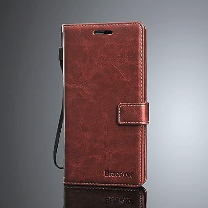 cheaper ac191 07740 Bracevor Flip Cover Leather Case : Inner TPU, Leather Wallet Stand for Vivo  V9/ V9 Pro/ V9 Youth - Executive Brown