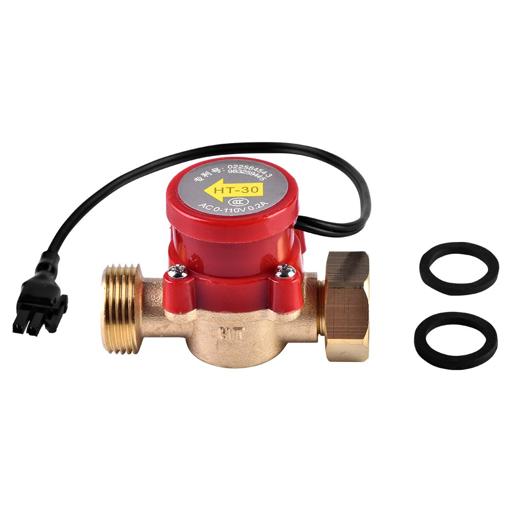 HT-30 AC 0-110V 0.2A G3/4''-3/4'' Thread Water Flow Sensor Switch for Booster Pump