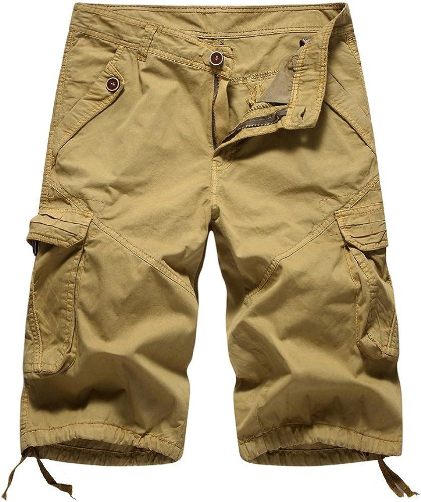 SamSoMon 2019 Pantalón de Deporte para Hombre Pantalones Cargo ...