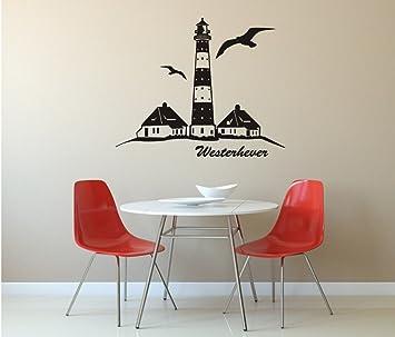 Wandtattoo Westerhever Leuchtturm 740 Mm X 600 Mm M030