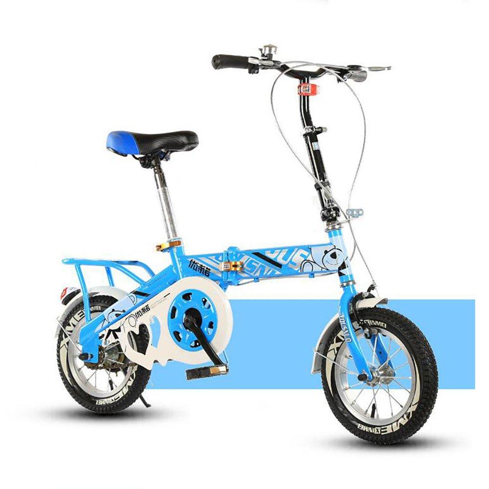 子供用折りたたみ自転車, 学生折りたたみ自転車 光ポータブル 生徒 折りたたみ自転車 8-15 年の古い B07DFG2FJT 16inch|青 青 16inch