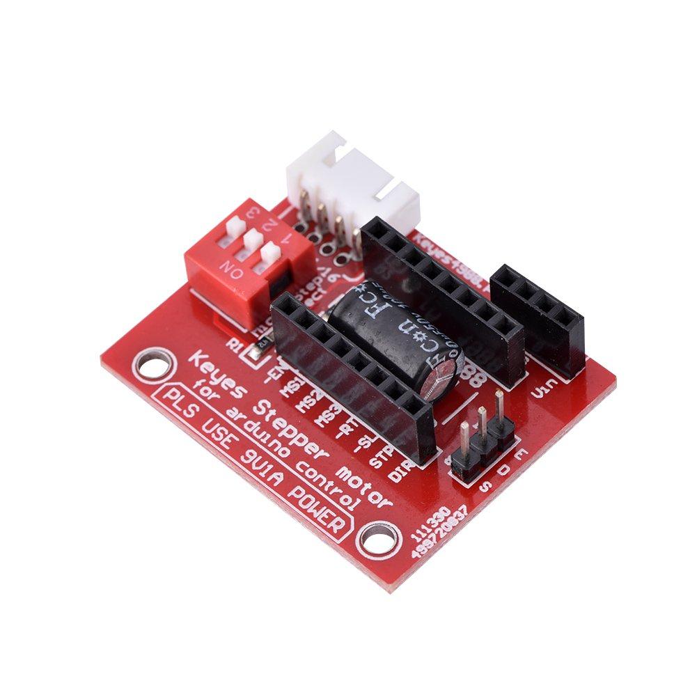 3D Printer A4988 Stepper Motor Driver Board, ASHATA A4988/DRV8825 Stepper Motor Driver Control Extension Shield Boards for 3D Printer