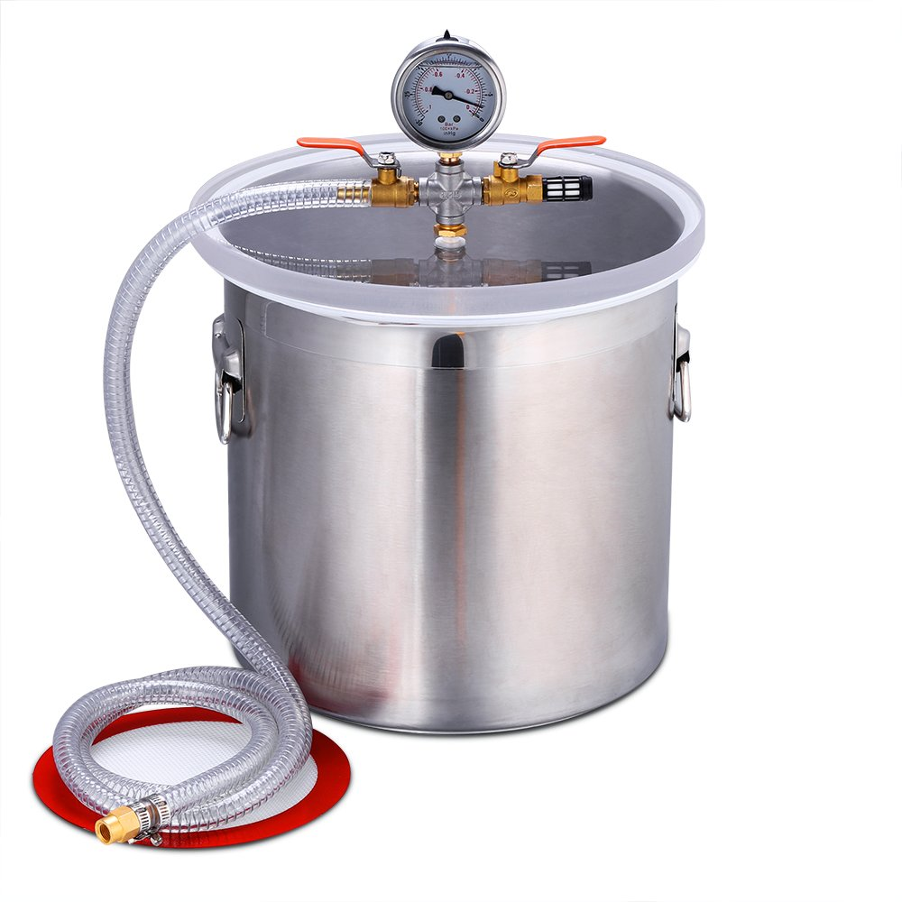 Triple Tree 5 Gal Vacuum Chamber Stainless Steel Silicone Kit for Degassing Urethanes, Resins, Silicones and Epoxies
