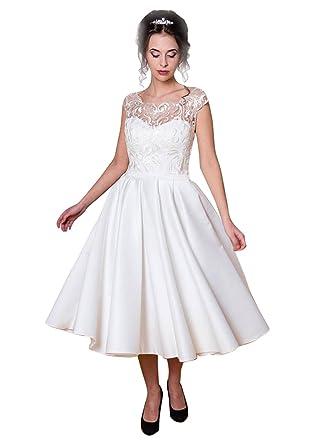 Robe mariage courte blanche dentelle