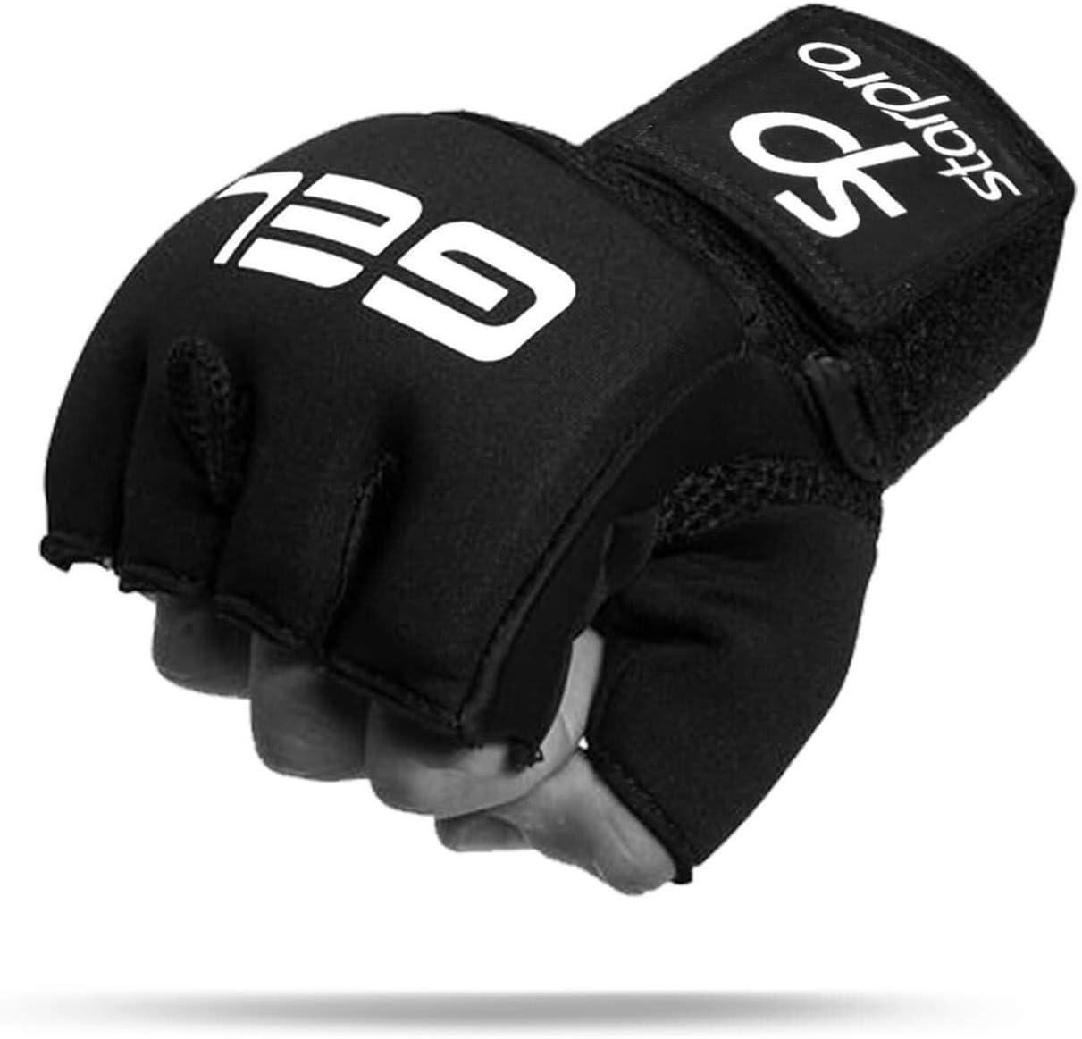 Gel de Boxe Gants int/érieurs Enveloppements /à la Main MMA Bandages Muay Thai Training sous Gants Prot/ège Poignet dentrainement Sparring Arts Martiaux Noir Hand Wraps Starpro Bandes Boxe Int/érieurs