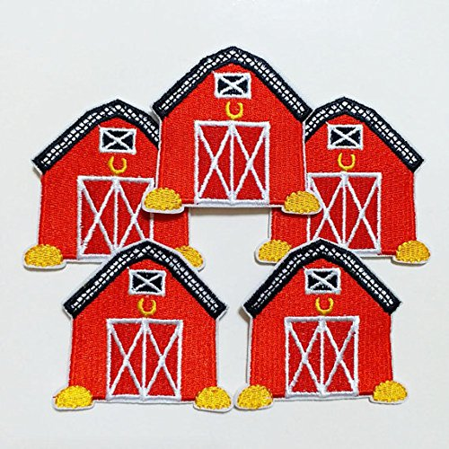 10pcs Animal Farm Barn Iron On Sew On Cloth Embroidered Patches Appliques Machine Embroidery Needlecraft Sewing Projects