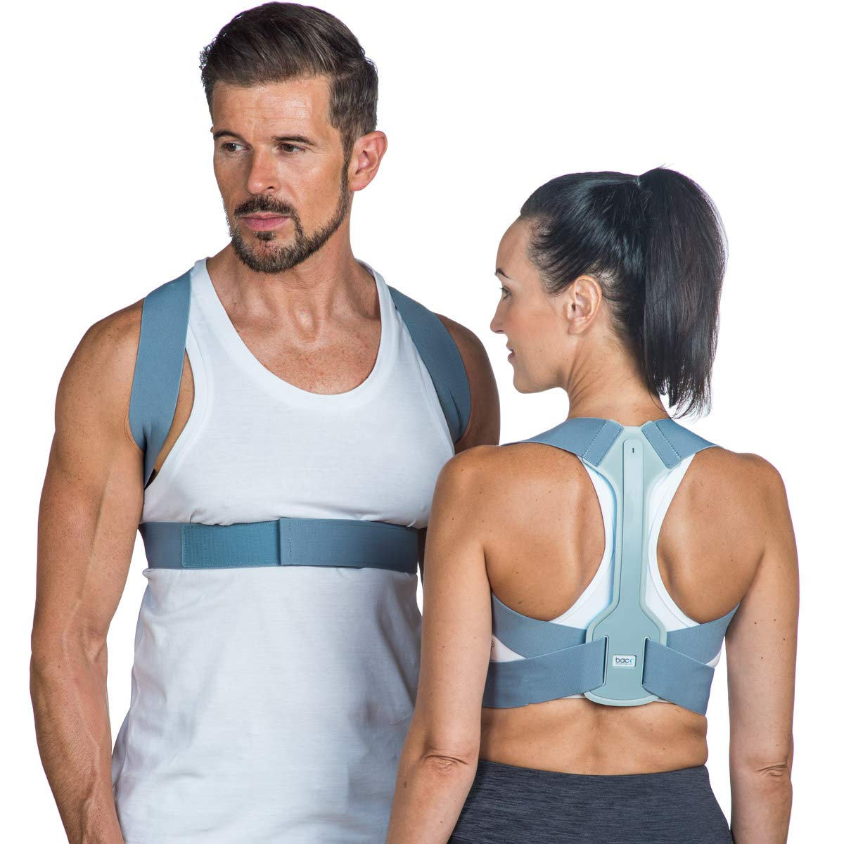 BACK Posture Corrector – Adjustable shoulder brace improves posture, prevents slouching and products back pain relief. (Large, Chest Approx 36-48 inches)
