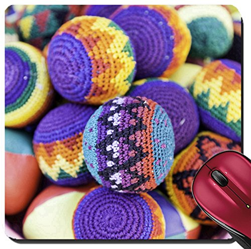 Large Juggle Ball - Liili Suqare Mousepad 8x8 Inch Mouse Pads/Mat Juggling balls detail to juggle fun and games Image ID 22173287