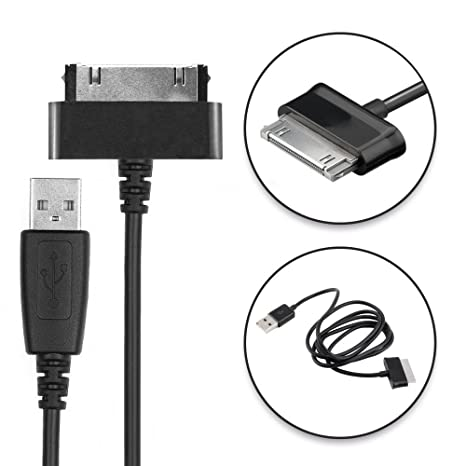 CELLONIC® Cable USB dato (1.0m) Compatible con Samsung Galaxy Note 10.1 Tab 8.9 Tab 2 7.0 Tab 2 10.1 GT-N8000 GT-P3100 GT-P5100 (Connector (30 Pin) a ...