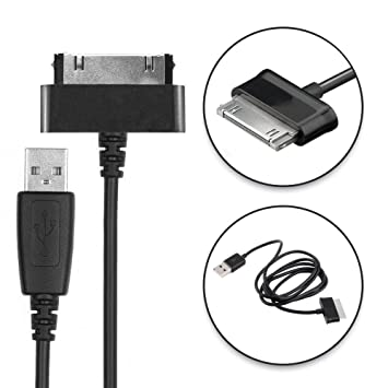 CELLONIC® Cable USB dato (1.0m) compatible con Samsung Galaxy Note 10.1 Tab 8.9 Tab 2 7.0 Tab 2 10.1 GT-N8000 GT-P3100 GT-P5100 (Samsung Connector (30 ...