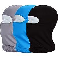 JSBelle Set de 3 Pasamontañas, Balaclava Face Mask, Máscara a Prueba de Viento Protectora del Cuello Transpirable UV para Motocicleta al Aire Libre Ciclismo Senderismo Deportes