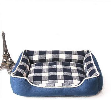 WLEI Cama para Mascotas de Lujo para Gatos y Perros pequeños y medianos, con Cojines Suaves Desmontables, Plegables y fáciles de Limpiar,Gray,60CM: ...