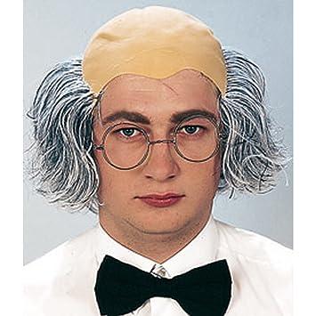 Professor Europa peluca con pelo alopecia y alopecia peluca Einstein Muñeco de edad Einstein peluca Professor