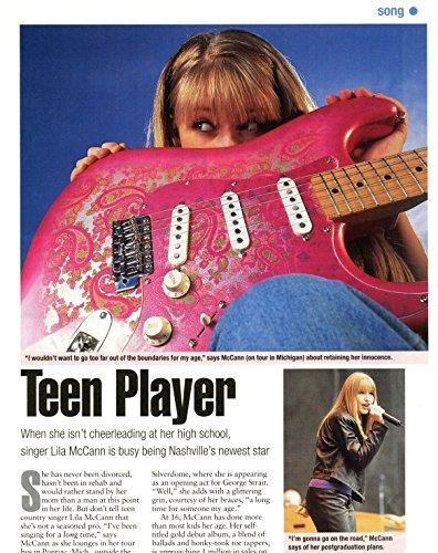 Lila McCann original 2pg 8x10 clipping magazine photo #R8936