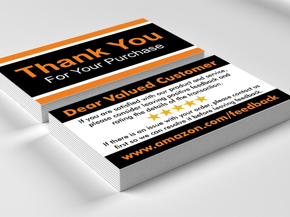 Amazon kachy design thank you for your purchase cards amazon kachy design thank you for your purchase cards pack of 1000 16pt thick glossy business card size office products reheart Gallery