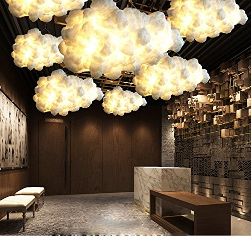 INJUICY Morden Led Pendant Lights, Cloud Shade Ceiling Lamps For Living Room,  Bedrooms,