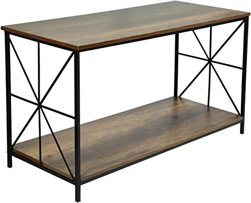 Joveco Vintage Console Table Sofa Coffee Tables for Living Room Coffee Table with Lower Shelf