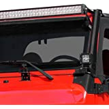 "E-Autogrilles 97-06 Jeep Wrangler TJ Steel Upper Windshield Mounting Brackets for 52"" LED Light Bar (51-0452)"