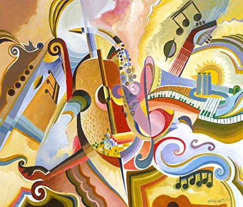 (Vangohart Louis Leonard Art - All That Jazz - Artist Garsot, Canvas Giclee Wall Art Print,)