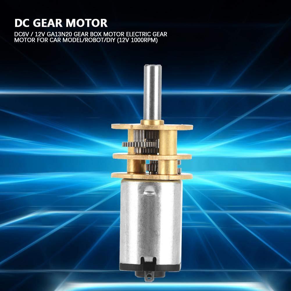 Roboter und DIY DC 6 V 12 V Getriebemotor GA13N20 Getriebe Motor Elektrische Getriebemotor f/ür Auto Modell 12V 60RPM