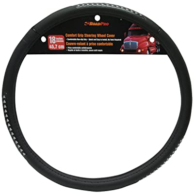 "RoadPro RPSW-3002 Black 18"" Comfort Grip Steering Wheel Cover: Automotive"