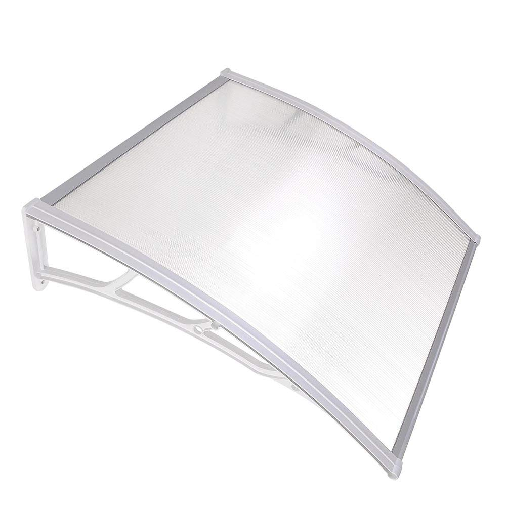 Yescom 39×39 Outdoor Door Window Awning Canopy Patio Cover Rain Snow Protection One-Piece Polycarbonate Hollow Sheet