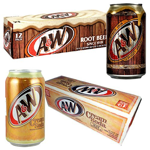 A & amp; W root beer 12 + A & amp; W cream soda 12 [A & amp; W2 or 355ml ~ 24 pcs set] [Parallel import] (; Amp A Beer & W Root)
