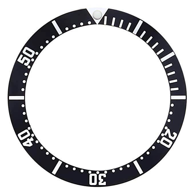 BEZEL INSERT FOR 41MM CASE OMEGA SEAMASTER 082SU1361 JAMES BOND 007 BLACK