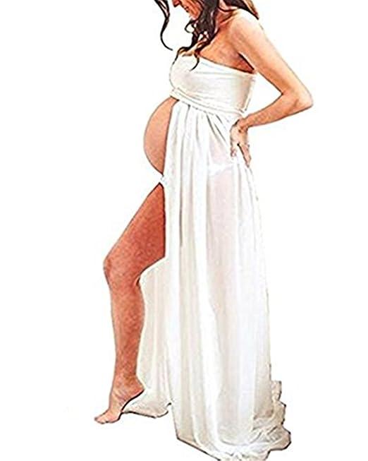 Ruiying Falda Partidade Disfraz Gasa para Mujeres Embarazadas ,Accesorios de Fotografía,Vestido de Premamá