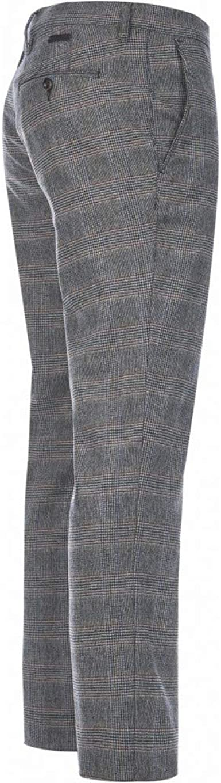Alberto Rob Smart Retro - Pantalones de Lana para Hombre
