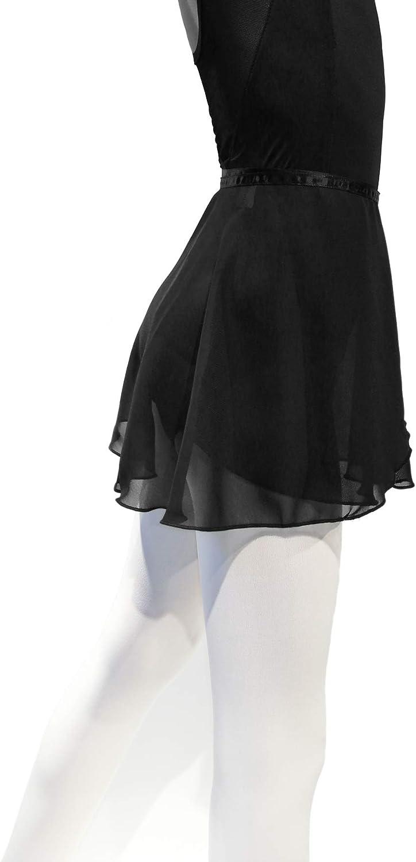 NewChao Ballet Chiffon Wrap Skirts Dance Skirts for Women Girls White Black: Clothing