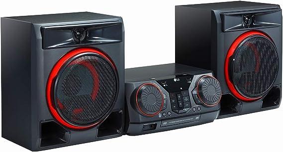 LG CK56 - Equipo de Sonido de Alta Potencia (700 W, Bluetooth, USB Dual, Karaoke, Iluminación LED, CD, Entrada de Micro, FM) Color Negro: Amazon.es: Electrónica