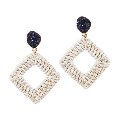 Amazon.com  Woven Straw Earring a246e291489c