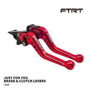 FTRT Short Brake Clutch Lever for EX250F Ninja 250R 08-12/ EX300 Ninja 300 13-17/ EX400 Ninja 40018-19/ BR125 Z125 PRO 17-19/ KLE300 Versys-X 300 17-19/ KLX125 10-16/ KLX150S 09-13/KLX250 08-16: Red